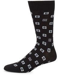 Bugatchi - Geometric Dress Socks - Lyst