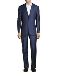 Saks Fifth Avenue - Two-piece Classic Fit Striped Wool Suit - Lyst