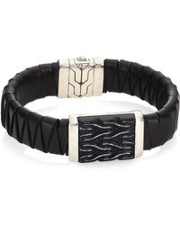John Hardy - Classic Chain Collection Pyramid Accent Bracelet - Lyst