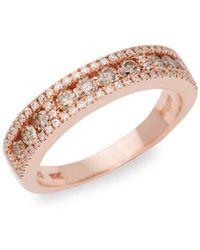 Le Vian - Chocolatier® 14k Strawberry Gold®, Chocolate & Vanilla Diamondtm Ring - Lyst
