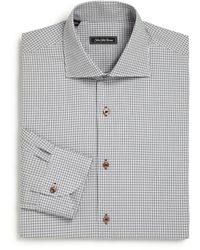 Saks Fifth Avenue - Regular-fit Check Cotton Dress Shirt - Lyst