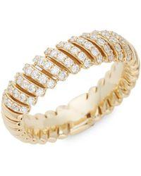 Saks Fifth Avenue - 14k Gold Diamond Wrap Anniversary Ring - Lyst