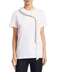 N°21 - Embellished Cotton Tee - Lyst
