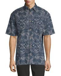 French Connection - Delon Hawaiian Cotton Button-down Shirt - Lyst