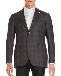 Lubiam - Windowpane Wool Sportcoat - Lyst