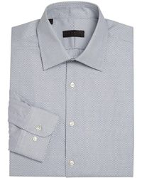 Ike By Ike Behar - Geometric Regular Fit Dress Shirt - Lyst