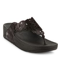 Fitflop - Flora Leather Slip-on Sandals - Lyst