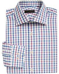 Ike By Ike Behar - Multi-check Cotton Poplin Dress Shirt - Lyst