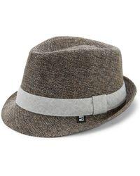 Block Headwear - Linen Fedora - Lyst