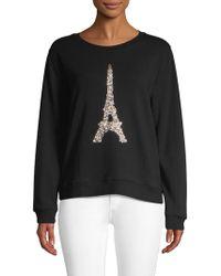 Karl Lagerfeld - Sequin Eiffel Tower Pullover - Lyst