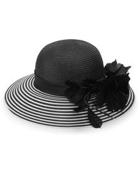 San Diego Hat Company - Striped Floral Dress Hat - Lyst