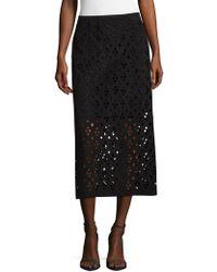 Tibi - Cutout Zippered Skirt - Lyst