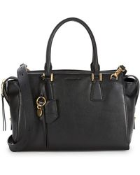 Cole Haan - Square Leather Satchel - Lyst