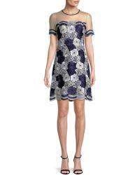 T Tahari - Joie Lace Shift Dress - Lyst