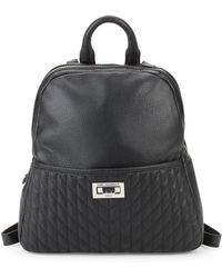 Karl Lagerfeld - Quilted Leather Backpack - Lyst
