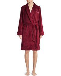 Calvin Klein - Logo Fluffy Robe - Lyst