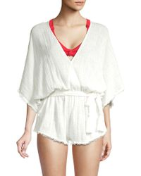 Dolce Vita - Cotton Frayed Cover-up Romper - Lyst