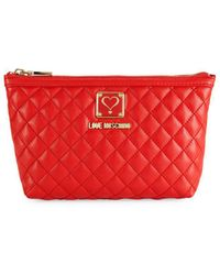 Love Moschino - Bustina Faux Leather Pouch - Lyst