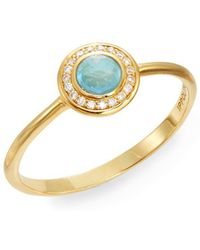 Ippolita - Lollipop Turquoise, Diamond & 18k Yellow Gold Mini Ring - Lyst