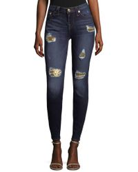 True Religion - Sequin Skinny Jeans - Lyst