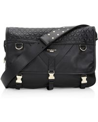 Balmain - Nomade Quilted Leather Messenger Bag - Lyst