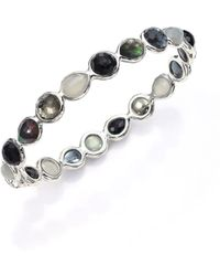 Ippolita - Rock Candy Black Tie Semi-precious Multi-stone & Sterling Silver All-around Bangle Bracelet - Lyst