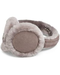 UGG - Classic Shearling-trimmed Leather Earmuffs - Lyst