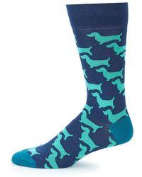Bugatchi - Dog Mid-calf Socks - Lyst