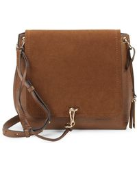 Vince Camuto - Leather & Suede Flap Crossbody Bag - Lyst