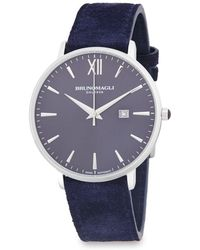 Bruno Magli - Stainless Steel Analog Leather-strap Watch - Lyst