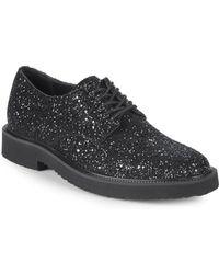 Giuseppe Zanotti - Leather Glitter Derby Shoes - Lyst