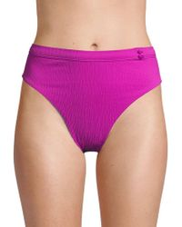 Red Carter - Textured Bikini Bottom - Lyst