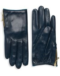 Portolano - Side Zip Leather Gloves - Lyst