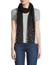 Karl Lagerfeld - Multicolored Faux Pearl-embellished Scarf - Lyst