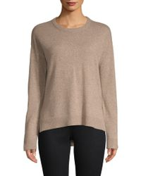 Saks Fifth Avenue - Contrast Trim Cashmere Sweater - Lyst
