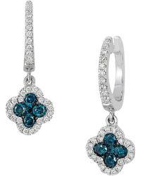 Le Vian - Exotics Multi-color Diamond And 14k Vanilla Gold Drop Earrings - Lyst