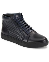 Zanzara - Soul Woven Leather High-top Trainers - Lyst