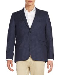 Armani   Checked Wool Jacket   Lyst