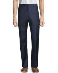 Santorelli - Flat-front Wool Pants - Lyst