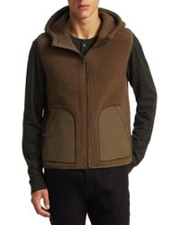 Vince - Reversible Sherpa Fatigue Coat - Lyst