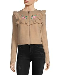 Wildfox - Ruffle Embroidered Jacket - Lyst