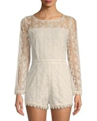 Saks Fifth Avenue - Bitsey Embroidered Romper - Lyst