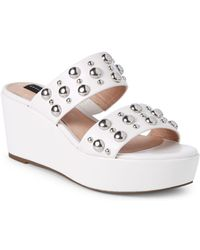 Steven by Steve Madden - Suzana Studded Wedge Sandals - Lyst