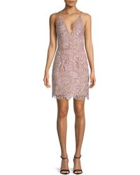 Dress the Population - Allie Floral Lace Dress - Lyst