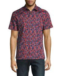 Perry Ellis - Cotton-stretch Short Sleeve Shirt - Lyst
