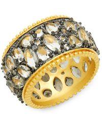 Freida Rothman - Cubic Zirconia & Sterling Silver Band Ring - Lyst