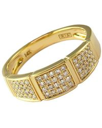 Effy - D Oro 14kt Yellow Gold And Diamond Band Ring - Lyst