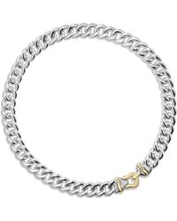 David Yurman - Cable Buckle Necklace With 14k Gold, 14mm - Lyst