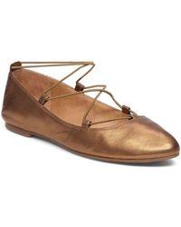 Lucky Brand - Aviee Leather Flats - Lyst