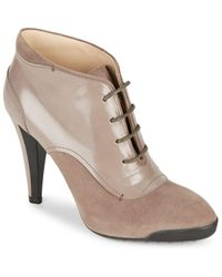 Tod's - Lace-up Leather Booties - Lyst